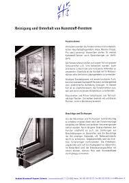 Reinigung Und Unterhalt Von Kunststoff Fenstern