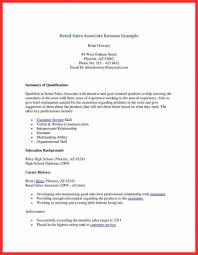 Retail Associate Resume 80 S Le Resume For Retail Associate