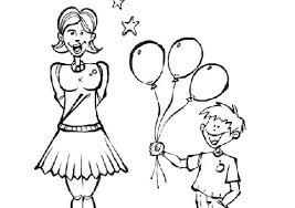 Disegni Da Colorare Per Bambini Festa Della Donna Con Palloncini