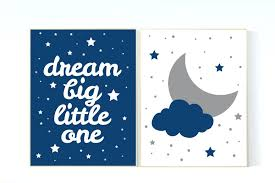 moon and stars nursery bedding baby boy nursery set moon and stars nursery navy blue nursery decor dream big little one art print baby boy nursery navy gray