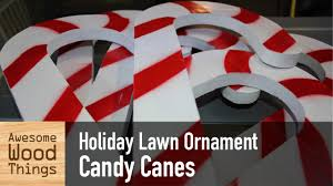 Candy Cane Yard Decorations Holiday Lawn Ornament Candy Canes YouTube 35