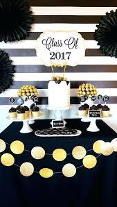 Graduation Party Ideas Bold Black And Gold Graduation Party Ideas