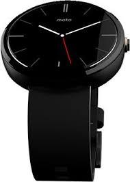motorola smartwatch. motorola moto 360 smartwatch - light stainless steel case, black horween leather band