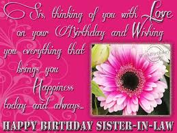 Beautiful Birthday Quotes For Sister In Law Best Of Wishing Happy Birthday To Sweet Sisterinlaw Greetings