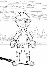 Small Picture Halloween Coloring Pages Werewolf For Kids Hallowen Coloring