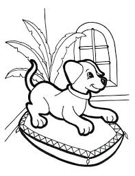 Doggy received a bone as a reward. 30 Free Printable Puppy Coloring Pages