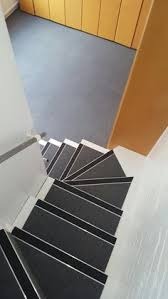 Install Burmatex 440 Sherborne Grey Carpet Tiles to Stairs