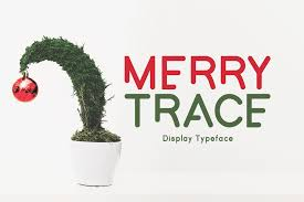 Merry Trace Font By Fonteden