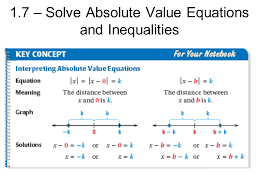 2 1 7 solve absolute value equations and inequalities