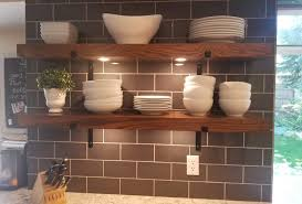 floating shelves vs wall cabinets for