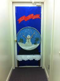 Classroom Door Designs For Christmas Deck The Door Contest Snow Globe Christmas Door