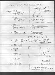 derivation of the formula for the electric potential of a dipole