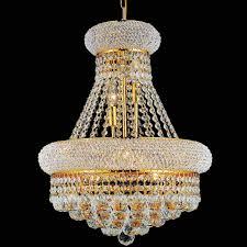 empire crystal medium size round chandelier chrome gold 6 19 lights