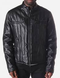 quilted men 039 s leather jacket black