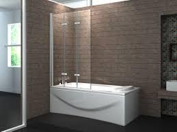 6mm safety glas bathtub 3 panel hinge shower glass bath screen