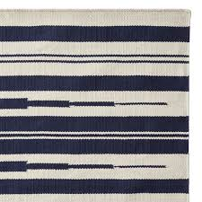 aura stripe indoor outdoor rug swatch navy