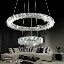 2 rings led crystal chandelier ring light crystal ers circle suspension light fixture d20 inch chandeliers chandeliers with 395 42 piece