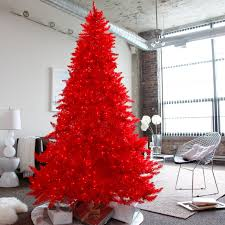 Red Ashley Pre-lit Christmas Tree by Sterling Tree Company - Bring a bright  and