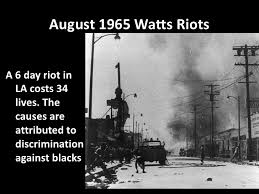 Image result for watts riots 1965