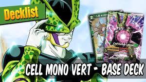decklist cell mono vert dragon ball super card game