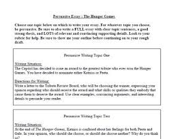 the best persuasive essays ideas persuasive hunger games persuasive essay from life on the fourth floor on teachersnotebook com 4