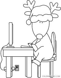Choose from one of our many colouring pages or mandalas. Reindeer Outline Coloring Pages Computer Black And Printable Coloring4free Coloring4free Com
