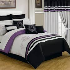 black white and purple bedding sets full