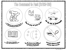 Small Picture Command to Fast Ramadan Coloring Page home school Pinterest