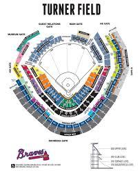 Braves Stadium Seating Chart Turner Field Seat Map Braves Stadium Seating Map United