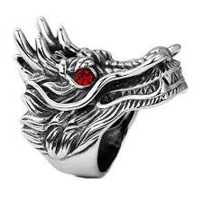 MeiYang <b>New Hot Sale</b> Dragon Head Rings for Men <b>Punk</b> Rock ...
