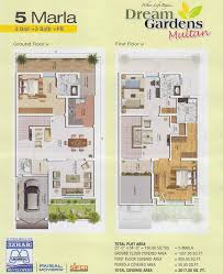 Small Picture 5 Marla House Layout Drawings in Dream Gardens Multan Real