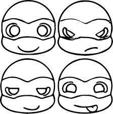 For Kids Download Ninja Turtles Coloring Pages 18 For Line