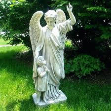 garden statues angels child photo 8 of design guardian angel prayer in and cherubs statue reading