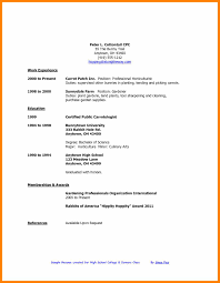 10 Resume Formats For High School Students Free Ride Cycles