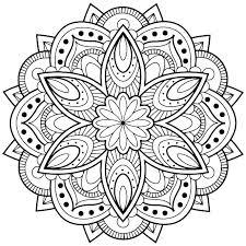 Mandala Color Sheets Print Mandala Coloring Pages Mandala Color