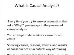 Causal Analysis The Causal Analysis Essay Is Structured As Follows