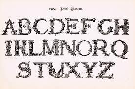 antique alphabet printable ornate font