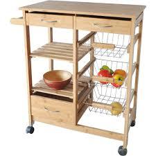 Walmart Kitchen Island Table Homegear Utility Kitchen Storage Cart Island With Rubberwood