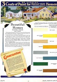 Sears Paint Color Chart Daily Bungalow 1928 Sears Kit House Paint Colors In 2019