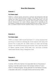sample personal biography sample personal biodata essay how to  short bio examples