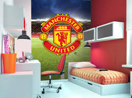 Man Utd Bedroom Wallpaper Manchester United Wall Mural Wallpaper Mural Football Children