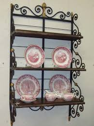 wrought iron wall shelves