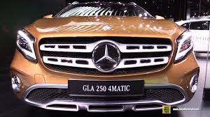 2018 mercedes benz cla 250 4matic. plain cla 2018 mercedes gla 250 4matic  exterior and interior walkaround debut at  2017 detroit auto show youtube and mercedes benz cla 4matic