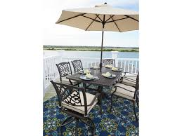 Outdoor dining sets with umbrella Round Wicker Dining Ashley signature Design Burnellaoutdoor Dining Set W Umbrella Nosaddictionservicesinfo Ashley signature Design Burnella Outdoor Dining Set W Umbrella