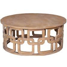 Washed Wood Interlocking Coffee Table