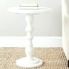 small white round table small white accent table for fabulous best pedestal side table ideas on