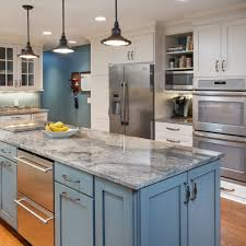 Blue Kitchen Cabinets Blue Kitchen Cabinets White Walls Modern Galley Kitchen Lighting