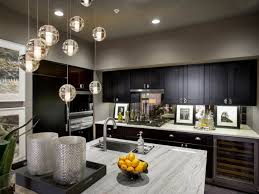modern glass pendant lighting. The Advantages Of Pendant Lights For Kitchen Island : Modern Decoration With Black Cabinet Glass Lighting