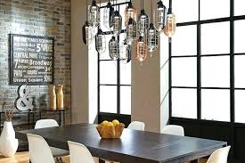 swag chandelier over dining table stirring kitchen chandeliers room interior design 31