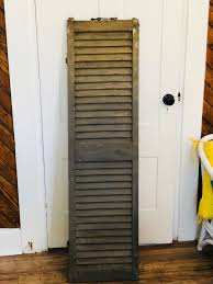 antique 1800 s old wooden window shutter architectural salvage 15x58